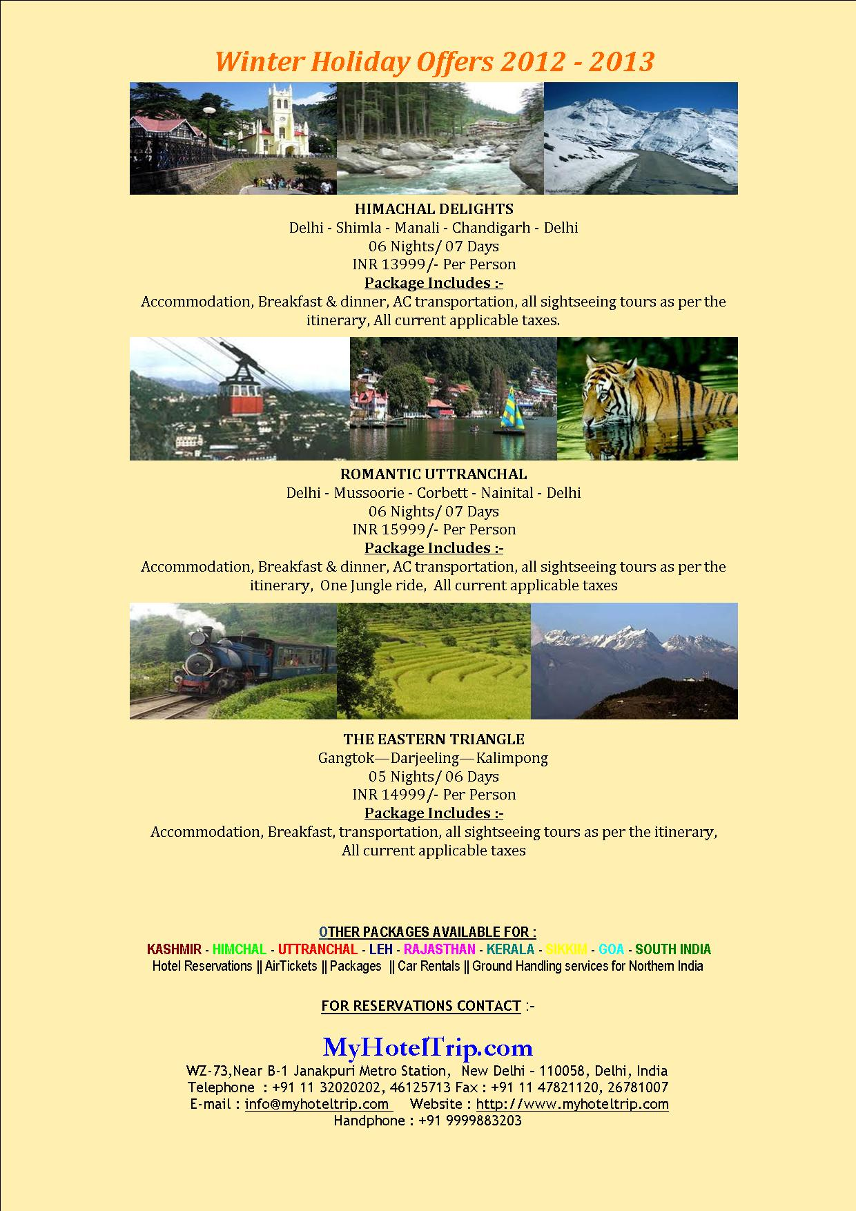 Winter Holiday Offer Himanchal Delight
